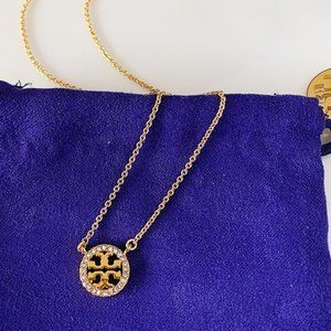 Tory Burch Logo Gold Necklace